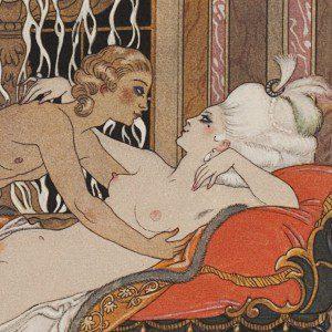 Illustration to Les Liaisons Dangereuses by Georges Barbier