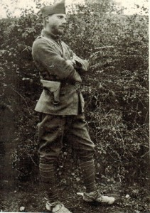 Theodore Stephanides serving in the Greek Army in Macedonia in 1917; he described this time in his memoir 'Macedonia Medley'